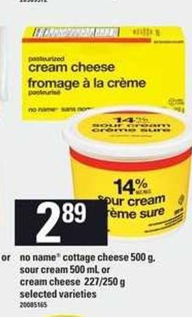No Name Cottage Cheese 500 G - Sour Cream 500 Ml Or Cream Cheese 227/ 250 G