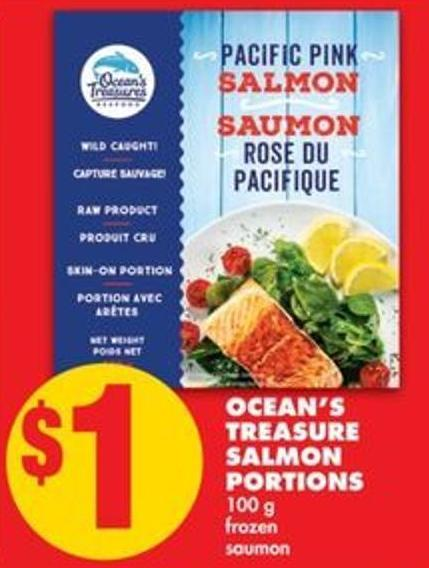 Ocean's Treasure Salmon Portions - 100 g