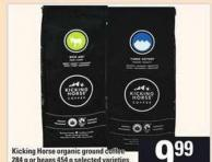 Kicking Horse Organic Ground Coffee - 284 g Or Beans - 454 g