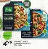 Healthy Choice Power Bowls Selected 204-280 g