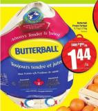 Butterball Frozen Turkeys 5-7 Kg 3.17/kg
