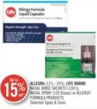 Allegra (21's-20's) Life Brand Nasal Rinse Sachets (100's) Nasal Spray (120 Doses) or Allergy Formula Products