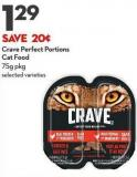 Crave Perfect Portions  Cat Food 75g Pkg