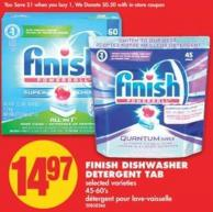 Finish Dishwasher Detergent Tab - 45-60's