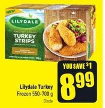 Lilydale Turkey Frozen 550-700 g