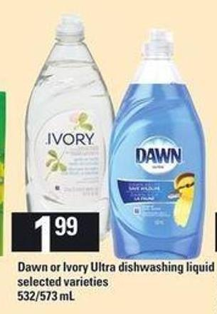 Dawn Or Ivory Ultra Dishwashing Liquid - 532/573 mL