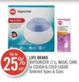 Life Brand Vapourizer (1's) - Nasal Care or Cough & Cold Liquid