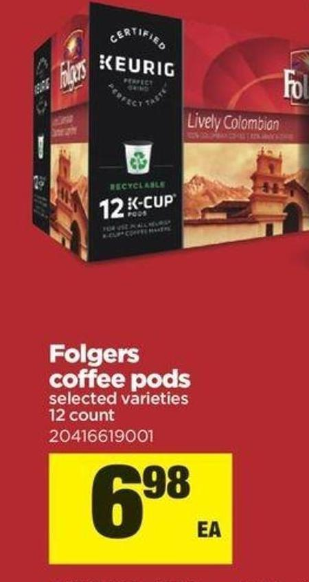 Folgers Coffee PODS - 12 Count