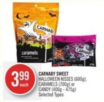Carnaby Sweet Halloween Kisses (600g) - Caramels (700g) or Candy (400g - 475g)