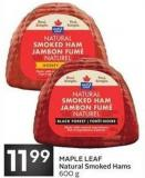 Maple Leaf Natural Smoked Hams 600 g