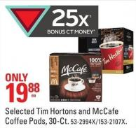 Selected Tim Hortons and Mccafe Coffee Pods - 30-ct