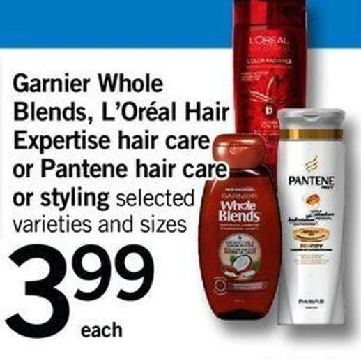 Garnier Whole Blends - L'oréal Hair Expertise Hair Care Or Pantene Hair Care Or Styling