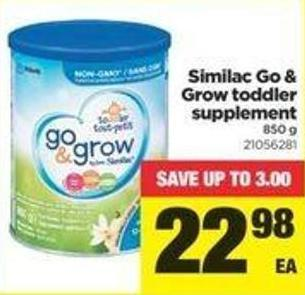 Similac Go & Grow Toddler Supplement - 850 G