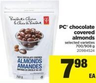 PC Chocolate Covered Almonds - 700/908 g