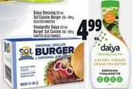 Daiya Dressing 237 Ml Sol Cuisine Burger 226 ‑ 284 G