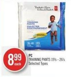 PC Training Pants 19's - 26's