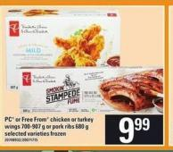 PC Or Free From Chicken Or Turkey Wings - 700-907 G Or Pork Ribs - 680 G