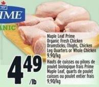 Yorkshire Valley Farms Organic Fresh Chicken Leg Quarters - Fresh Whole Chicken Or Value Pack Chicken Drumsticks