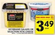 Keybrand Salads Or Selection Feta Cheese