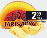 Norwegian Jarlsberg Cheese