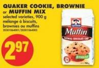 Quaker Cookie - Brownie or Muffin Mix - 900 g