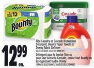 Tide Laundry Or Cascade Dishwasher Detergent - Bounty Paper Towels Or Downy Fabric Softener