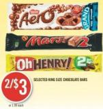Selected King Size Chocolate Bars
