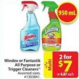 Windex or Fantastik All Purpose or Trigger Cleaners
