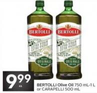 Bertolli Olive Oil 750 Ml-1 L or Carapelli 500 mL