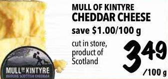 Mull Of Kintyre Cheddar Cheese