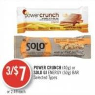 Power Crunch (40g) or Solo Gi Energy (50g) Bar