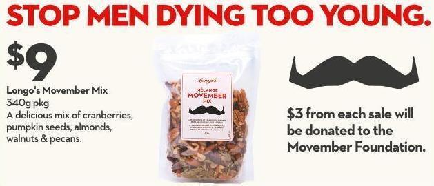 Longo's Movember Mix 340g Pkg
