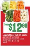 Vegetable Or Fruit Tri-packs - 830 G-1.2 Kg