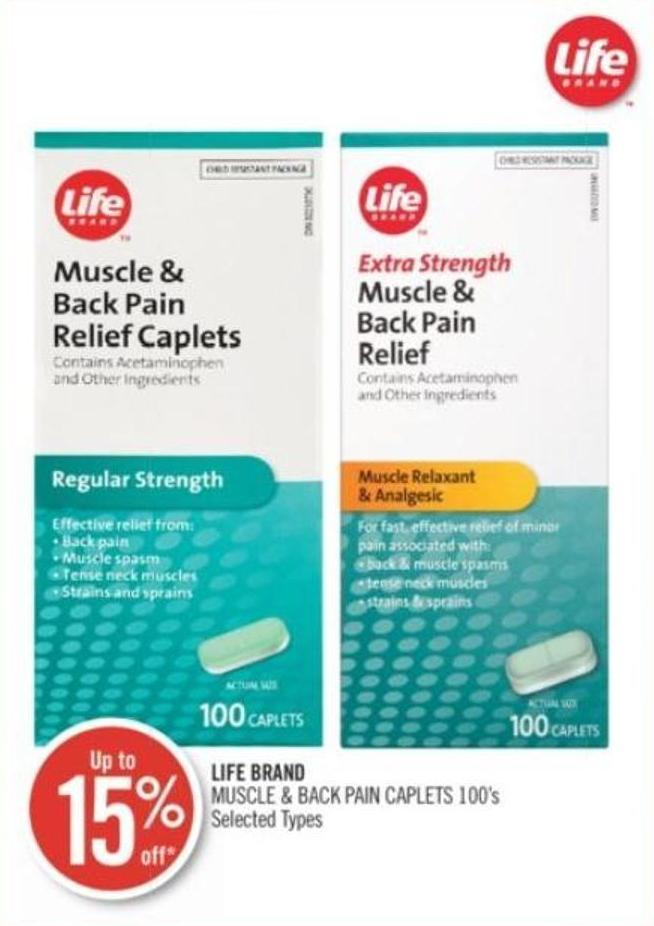 Life Brand Muscle & Back Pain Caplets 100's