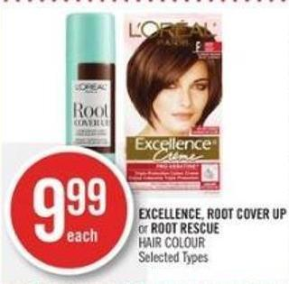 Excellence - Root Cover Up or Root Rescue Hair Colour