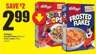 Kellogg's Frosted Flakes 425 g or Froot Loops 345 g
