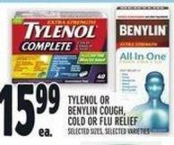 Tylenol Or Benylin Cough - Cold Or Flu Relief
