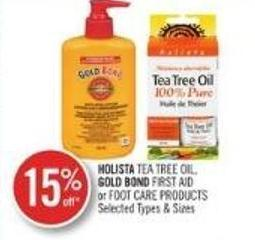 Holista Tea Tree Oil - Gold Bond First Aid Or Foot Care Products
