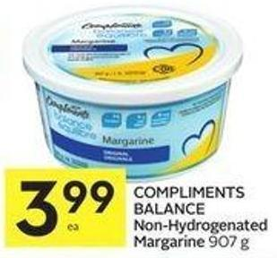 Compliments Balance Non-hydrogenated Margarine 907 g