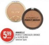 Annabelle Perfect Concealer - Bronze or Glow Blush