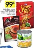 Club House Gravies or Sauces 21-45 g - Green Giant Vegetables 341-398 mL or Stove Top Stuffing 120 g
