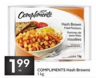 Compliments Hash Browns 1 Kg