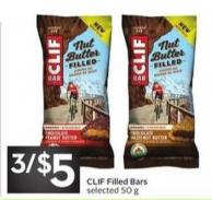 Clif Filled Bars
