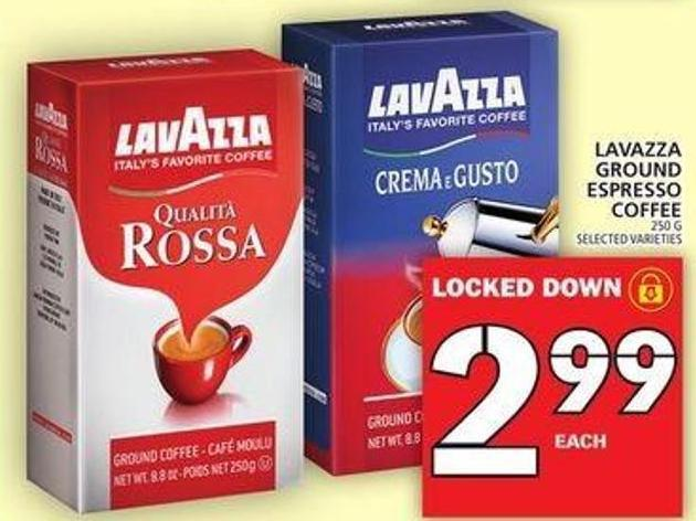Lavazza Ground Espresso Coffee