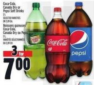 Coca-cola - Canada Dry Or Pepsi Soft Drinks 2 L