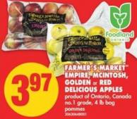 Farmer's Market Empire - Mcintosh - Golden or Red Delicious Apples - 4 Lb Bag