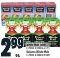 Minute Maid Drinks 8 X 200 ml - 10 X 200 ml or 1.89 L