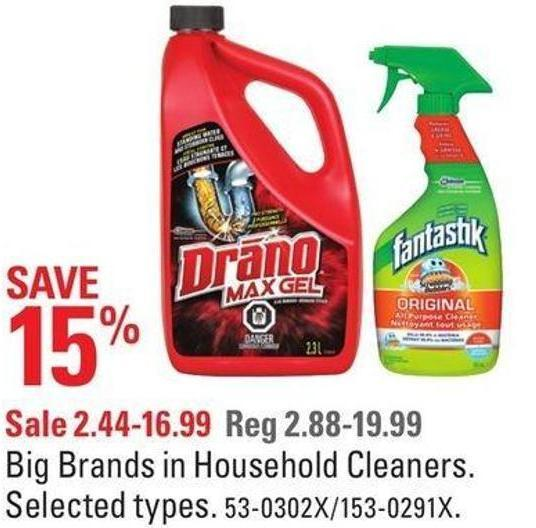 Big Brands In Household Cleaners