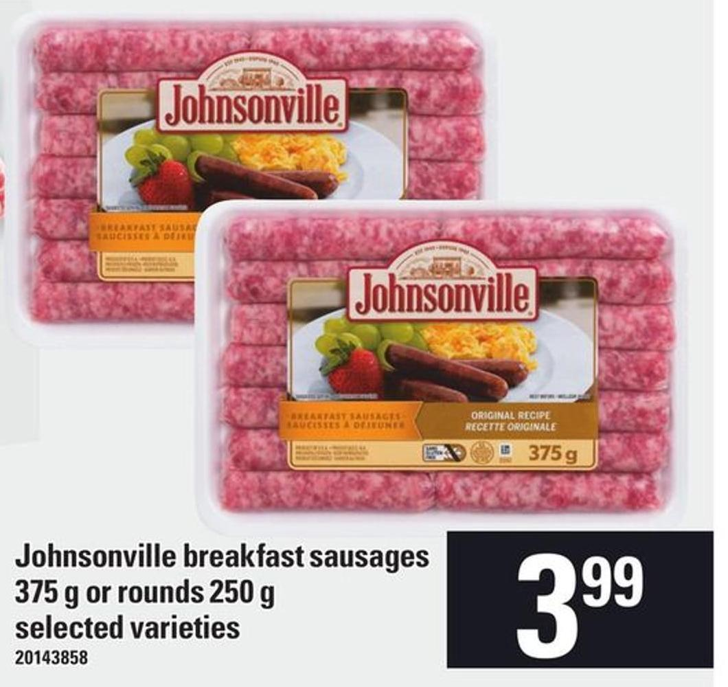 Johnsonville Breakfast Sausages 375 G Or Rounds 250 G