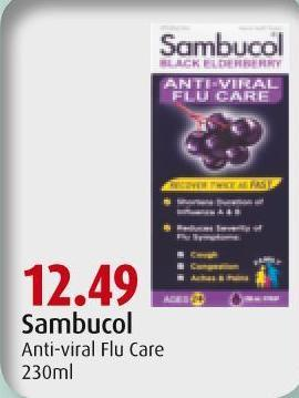 Sambucol Anti-viral Flu Care 230ml